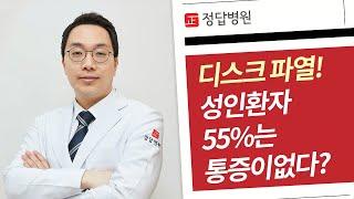 수원허리병원, 성인의 55%는 디스크가 파열돼도 통증이…