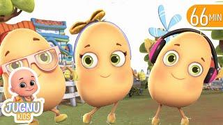 One Potato, Two Potatoes | Learn Numbers for Kids + More Nursery Rhymes & Kids Songs | Jugnu Kids