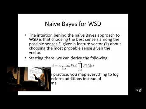 11-411/11-611 NLP (2019-04-02): Lecture 20. Semantic Disambiguation