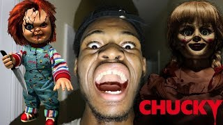 CHUCKY AND ANNABELLE CAME TO MY HOUSE!!!! THEY TRIED TO K*LL ME OMG!!!! (HELP)