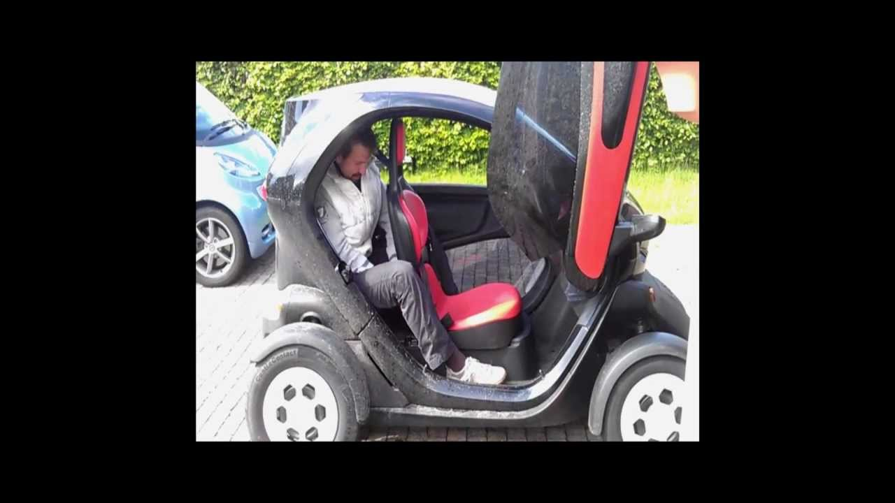 Electric Scooter With Seat >> Twizy test: the passenger seat - YouTube
