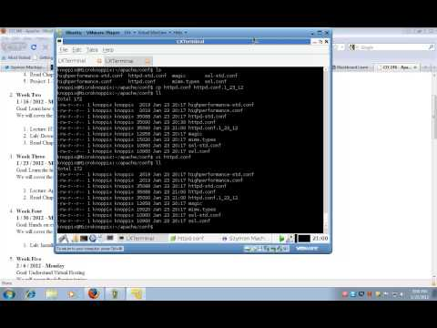 Web Server Admin: Lecture 3 part 2 Apache configuration httpd.conf CO246