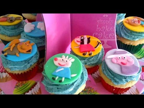 How to make Peppa Pig cupcakes YouTube