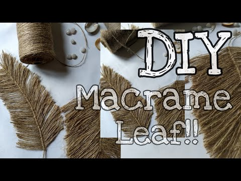 DIY Twine Macrame Feather!!!