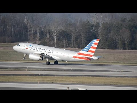 ✈ American Airlines Airbus A319-132 Taxi & Takeoff at Washington Dulles
