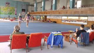 Спортивная акробатика. Чемпионат Украины 2014. Винница. Женская пара