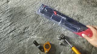 #Tutorial. cara pemasangan stabilizer / steering dumper kytaco di motor yamaha RX KING