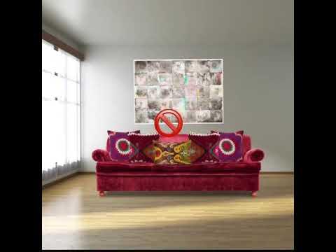 декорируем диван