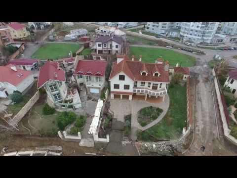 Оползень  Падают дома  в Черноморске    Ильичёвск набережная