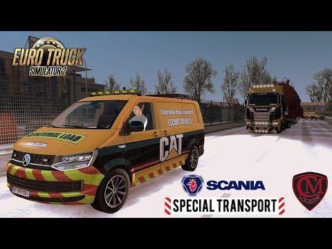 ETS2 I Special Transport ★ MEGA Schwerlasttransport im Winter ★ #543 LIVE-Tour [Deutsch/HD]