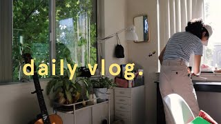 (daily vlog) vlogging in korean, studying for midterms, new coffee tools + redesigning my website!