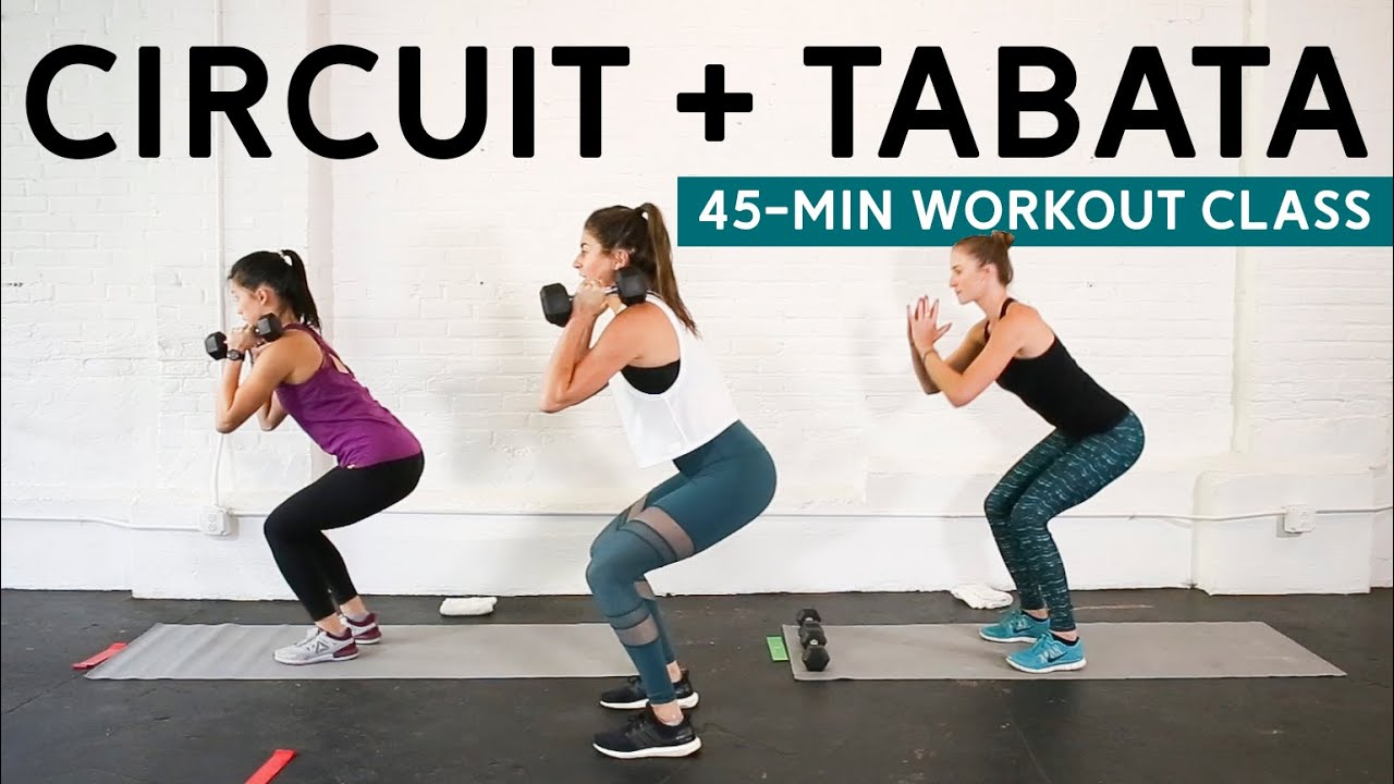 picture about Iron Strength Workout Printable referred to as Circuit + Tabata Exercise routine (Dumbbells + Mini Band) // Studio Pumps 45-Second Cl