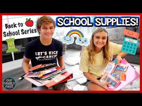 BACK TO SCHOOL SUPPLIES SHOPPING FOR HIGH SCHOOL!