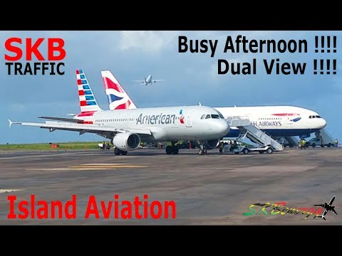 Pure Aviation Action !!! BA 777, AA 738, UA 738, DA A320, AA A320, MA 738..@ St. Kitts (Multi View)