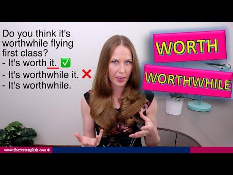 Worth or Worthwhile - Learn English Grammar