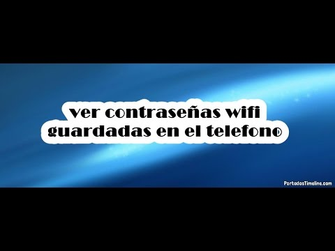 Ver contrase as wifi guardadas en el telefono youtube for Ver telefono