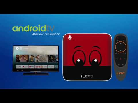 iLEPO i18 , innovated Voice control Smart Android TV Boxexercited