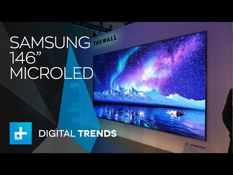 samsung 146 inch microled 4k tv and 85 inch 8k