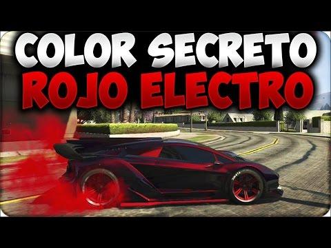 GTA 5 ONLINE 1.18 - COLOR SECRETO ROJO ELECTRO - COLORES OCULTOS - GTA V ONLINE 1.18