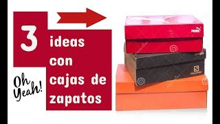 ♻ RECICLADO DE CAJA DE ZAPATOS - DECOUPAGE EN RELIEVE - MANUALIDADES FÁCILES - DIY