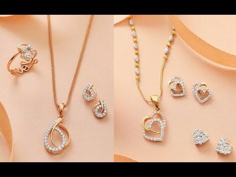 Simple diamond pendant sets for work latest designs youtube simple diamond pendant sets for work latest designs aloadofball Images