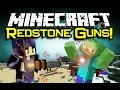 Minecraft REDSTONE GUNS MOD Spotlight! - MC Munition! (Minecraft Mod Showcase)