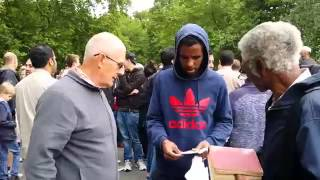 HP Speakers Corner-Christian Preacher saved by Muslim