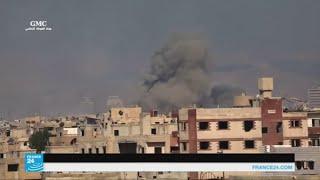 غارات جوية على عين ترما ودوما قرب دمشق