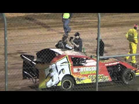 Ark La Tex Speedway Limited modified Victory lane interview 4/23/16