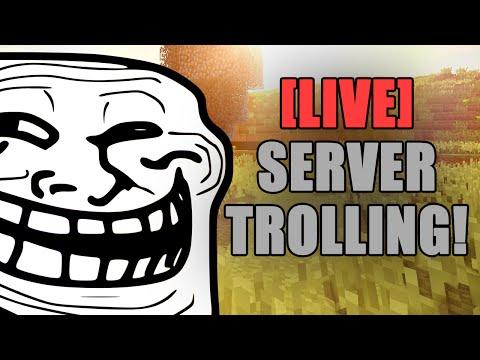 TROLLING HACKERS LIVE #8  (Minecraft Trolling)