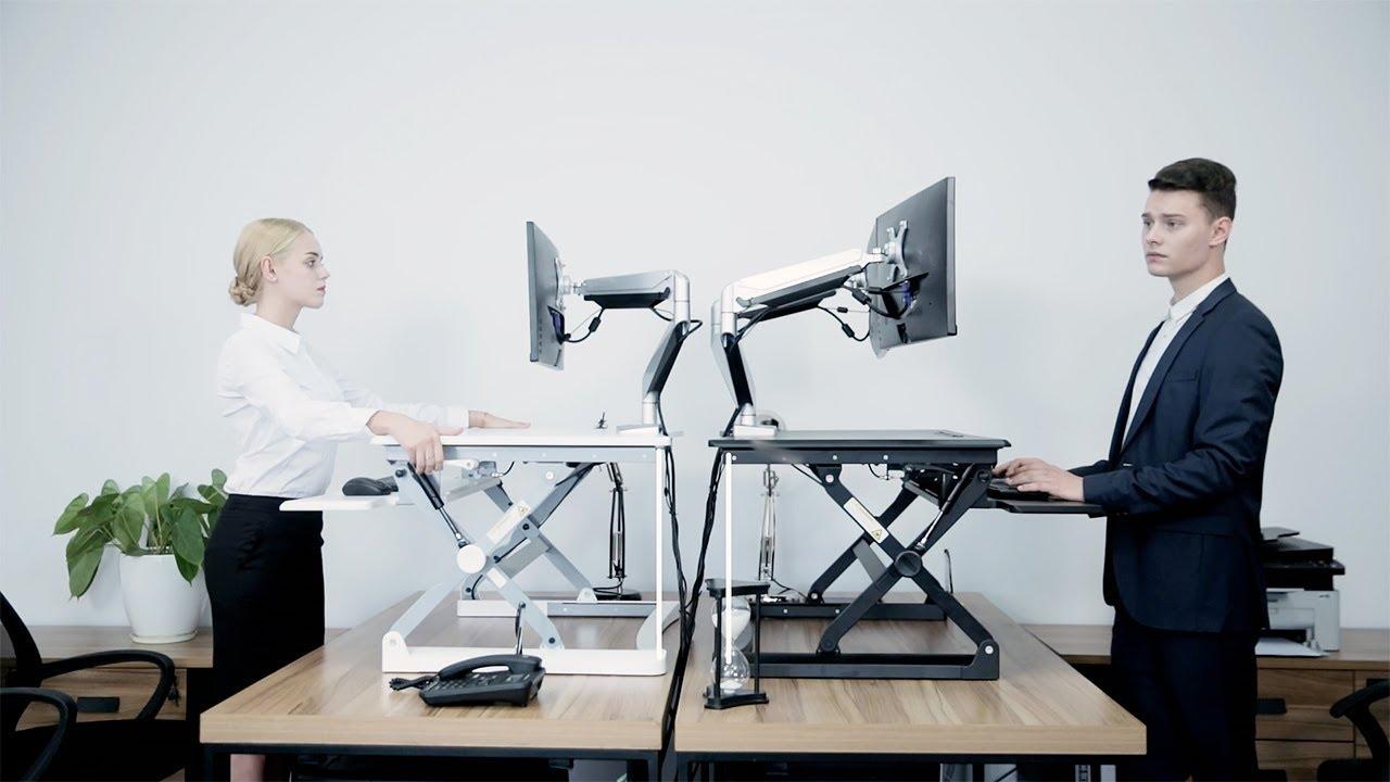 PrimeCables Sit Stand Desk Adjustable Desk Riser   MT101
