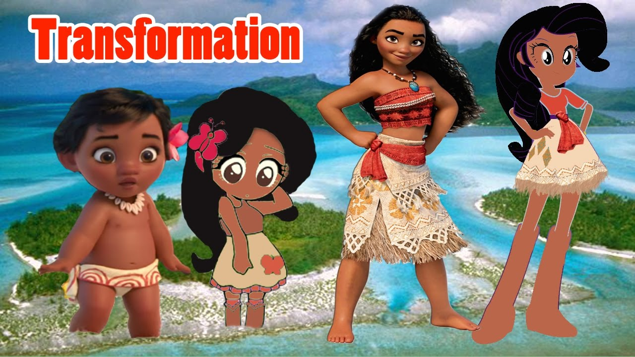 Disney Princess Of Pacific Moana Transform Ito Baby Fluttershy