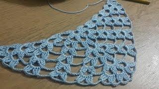 Şal Modeli, Tığişi Örgü Üçgen Şal Modeli Yapımı & Crochetwrap