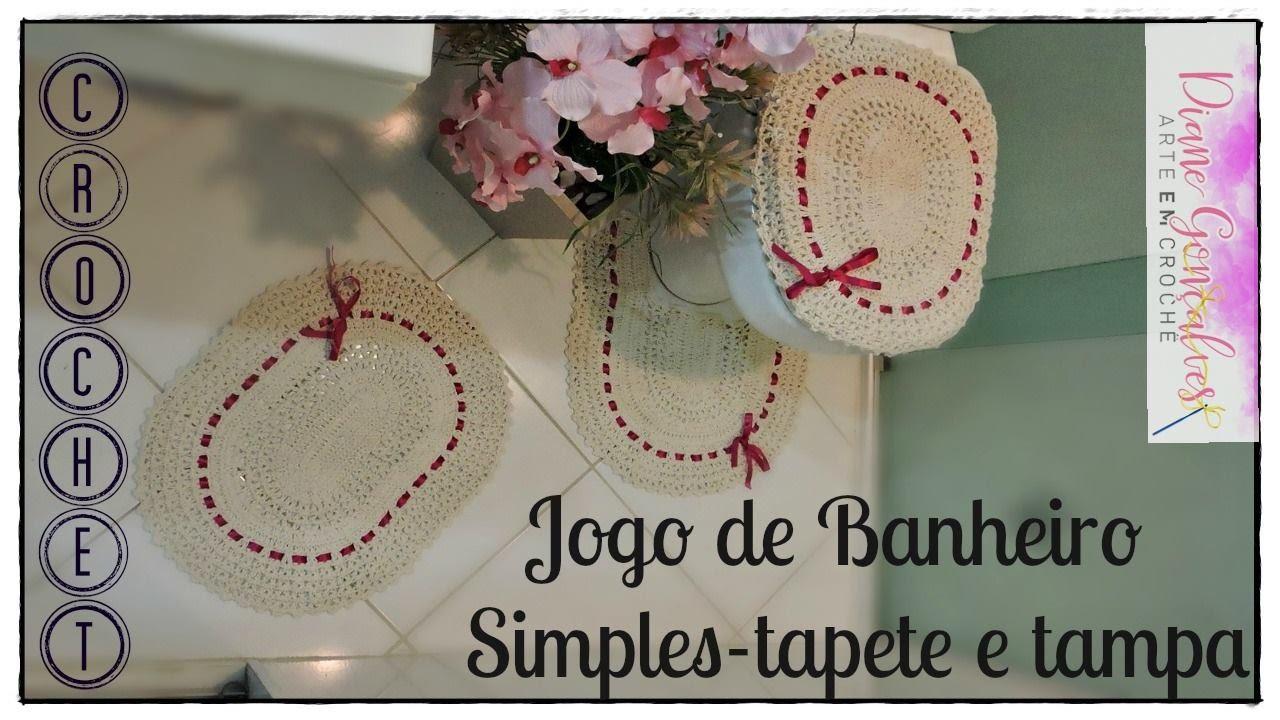 f26050a64 JOGO DE BANHEIRO SIMPLES- TAMPA E TAPETE VASO  PARTE I - YouTube