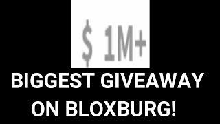 Biggest giveaway ever! (CLOSED) (ROBLOX Bloxburg)