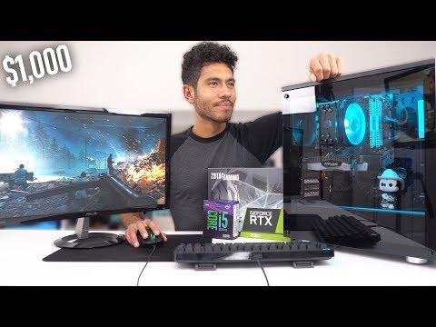 $1000 Gaming PC Build - RTX 2060 i5 9600K (w/ Benchmarks)