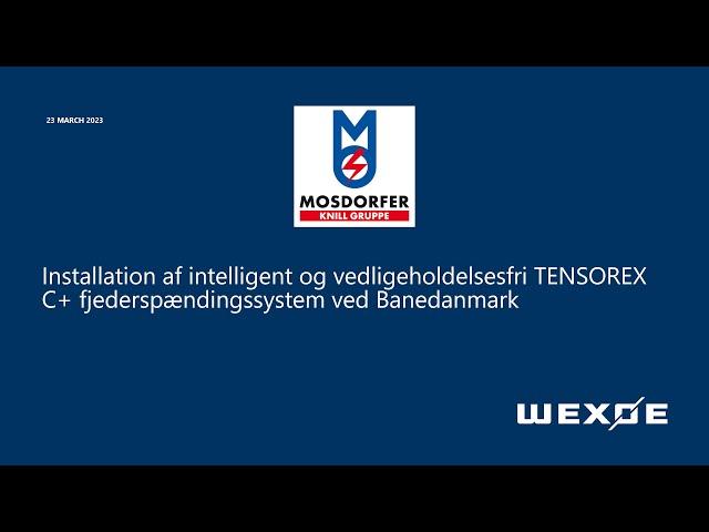 Installation af Pfisterer Tensorex C+ ved Banedanmark