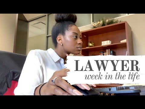 JUST A REGULAR WORK WEEK IN THE LIFE OF A LAWYER | real 9 to 5 life