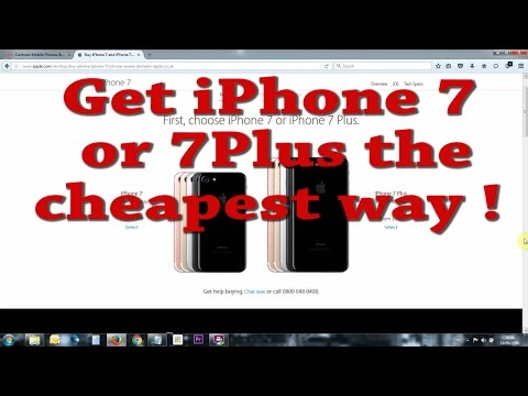 Cheapest way to get iPhone 7