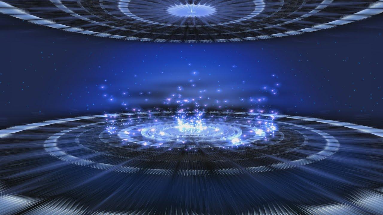 My Photo 3d Wallpaper 60fps 4k 2160p Blue Sparkling Hypnotic Stage Motion