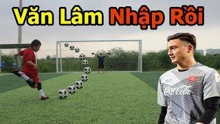 Thử Thách Bóng Đá sút Penalty Quang Hải Nhí hóa Đặng văn lâm U23 Việt Nam cực hài hước