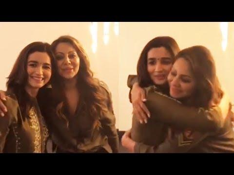 Alia Bhatt's CUTE Video With Shahrukh Khan's Wife Gauri Khan