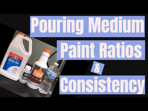 Pouring Medium, Ratios, Consistency, Oh My!  \\ Acrylic Pouring Tips and Pointers