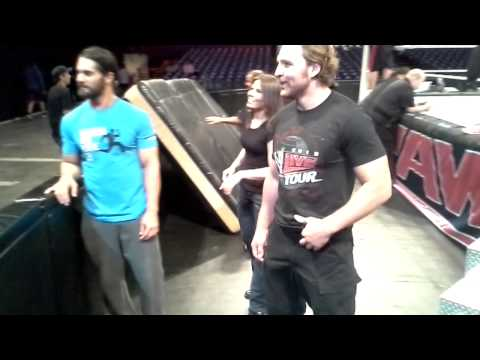 Hopping The Barricade With WWE The Shield