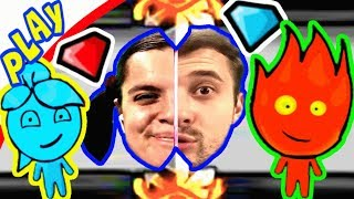 БолтушкА и ПРоХоДиМеЦ Собирают Цветные КРИСТАЛЛЫ! #154 Игра для Детей - Огонь и Вода 4