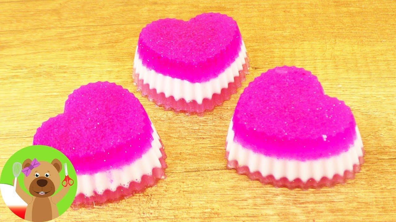DIY mydło w kształcie serca | warstwowe mydło jednorożcowe | pomysł na prezent
