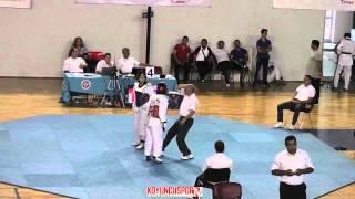 52kg Oznur Guven vs Neslihan Sevim (Turkish Junior TKD Championships 2015)
