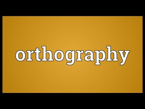 Orthography Meaning