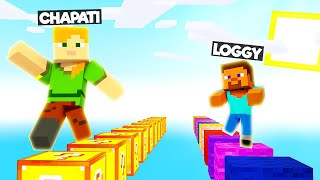 LOGGY LOST LUCKY BLOCK RACE | MINECRAFT