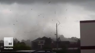 Tornado rips off roof, blows up electrical transformer in Missouri | Mashable